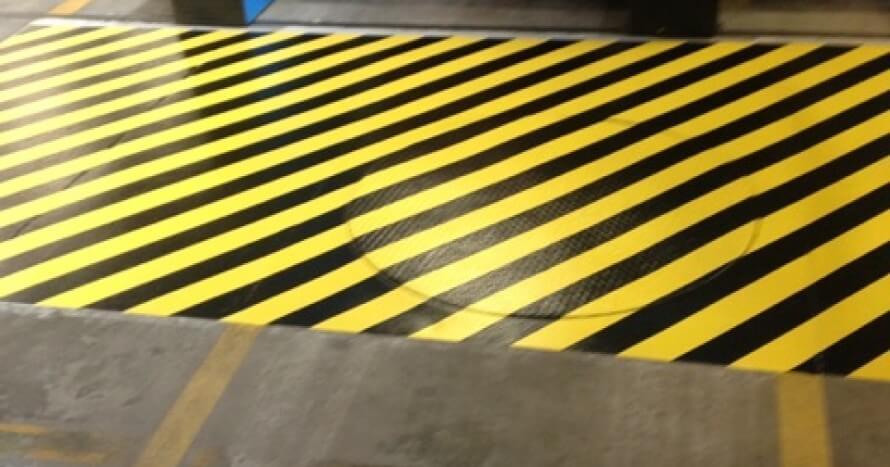 Med linjemålning blir det enkelt att skapa säkerhetszoner m.m